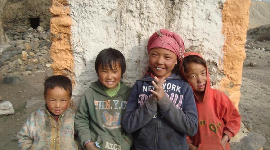 Kids from Gorkha area