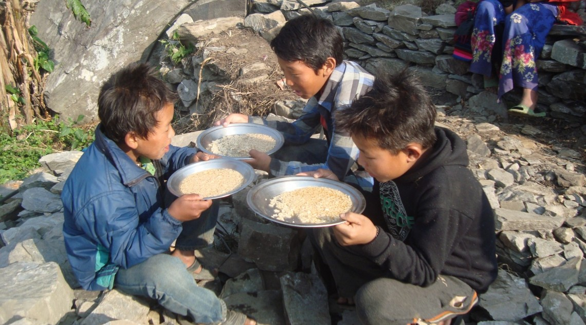 Kids from Langtang area of Nepal